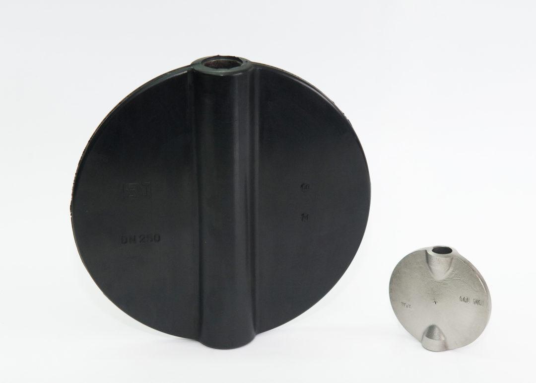 Recubrimiento en caucho de discos metálicos para Válvulas de Mariposa