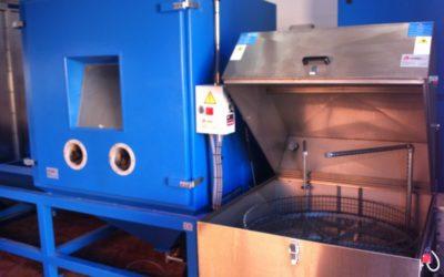 Neue Anlage für die behandelten Metallteile bei der Herstellung von Gummi-Metall