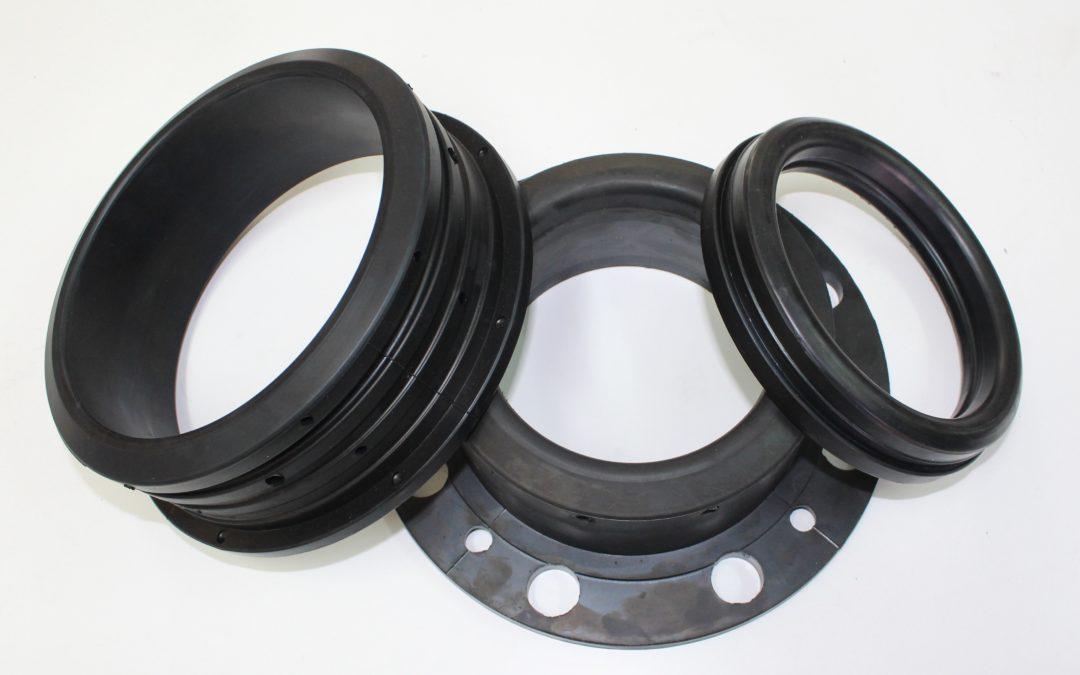 Fabricación de mangones de caucho para Válvulas de Guillotina