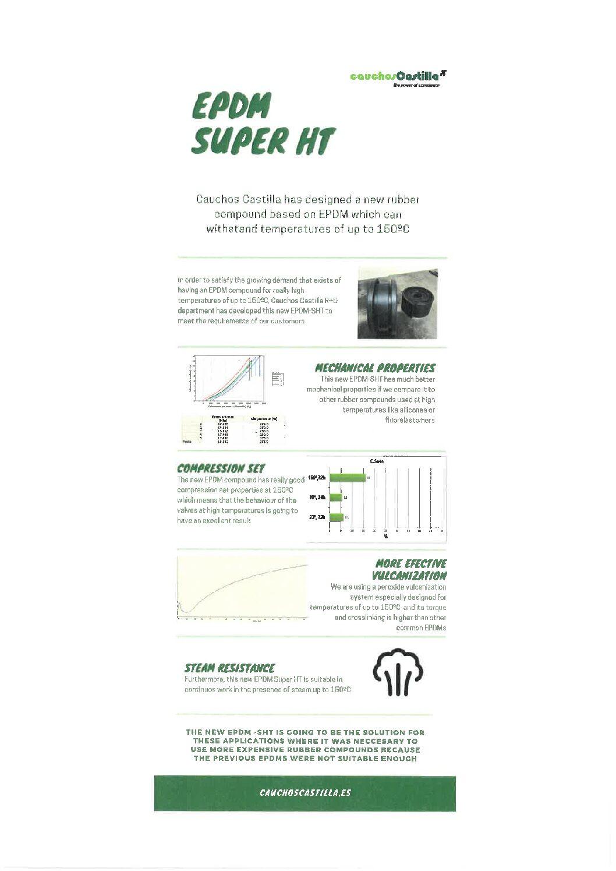 EPDM Super HT para uso a temperaturas de hasta 150ºC incluso con vapor de agua
